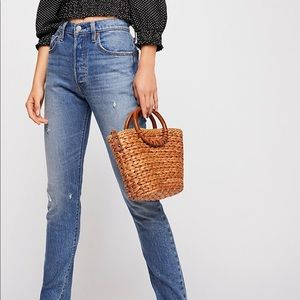 Levi's High Rise Skinny Jeans: scratch edition
